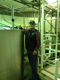 Trantham in the pasteurizing room.